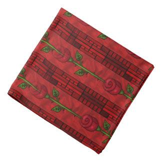 Pañuelo de la diversión del modelo del rosa rojo bandana