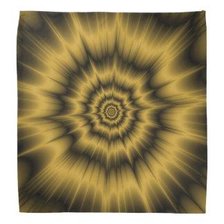 Pañuelo de la explosión del oro amarillo bandanas