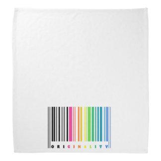 Pañuelo de la originalidad del código de barras bandanas