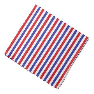 Pañuelo de las rayas rojas, blancas y azules bandana