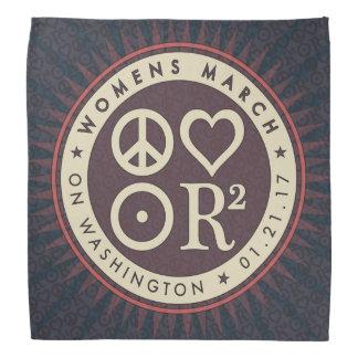 Pañuelo de marzo de las mujeres de los símbolos de bandanas