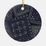 Pañuelo del azul del navidad del país ornamento para arbol de navidad