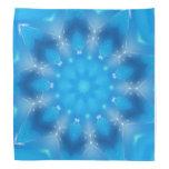 Pañuelo del diseño de la estrella azul de la fanta bandana