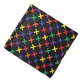 Pañuelo del diseño del x colorido negro bandanas