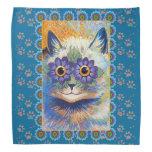 Pañuelo del gato de la flor del Hippie de Louis Wa Bandanas