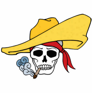 Pañuelo del gorra del cráneo de Halloween del Esculturas Fotográficas