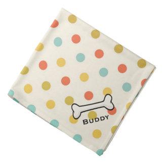 Pañuelo del personalizado del lunar del vintage bandanas