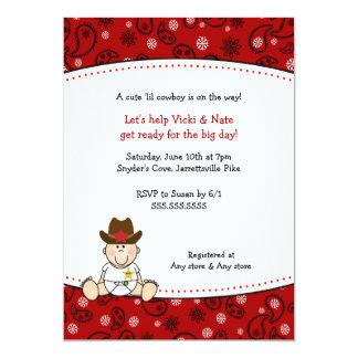 Pañuelo del rojo de la invitación de la fiesta de
