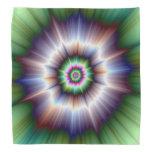 Pañuelo estupendo verde y azul violeta de Nova Bandanas