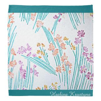 Pañuelo floral moderno de Hrabina Krystyna del Bandana