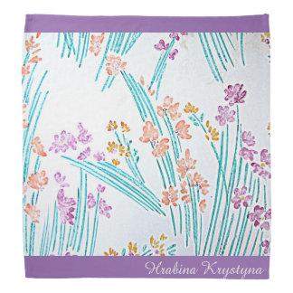 Pañuelo floral moderno v2 de Hrabina Krystyna del Bandanas