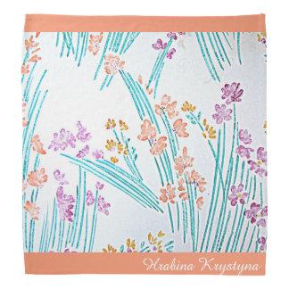 Pañuelo floral moderno v3 de Hrabina Krystyna del Bandana