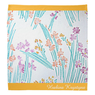 Pañuelo floral moderno v4 de Hrabina Krystyna del Bandana