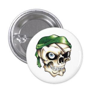 Pañuelo fresco del cráneo del pirata del símbolo d pin