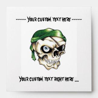 Pañuelo fresco del cráneo del pirata del símbolo d