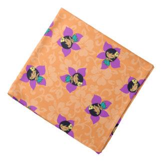 Pañuelo hawaiano del hibisco del chica de Hula de  Bandana