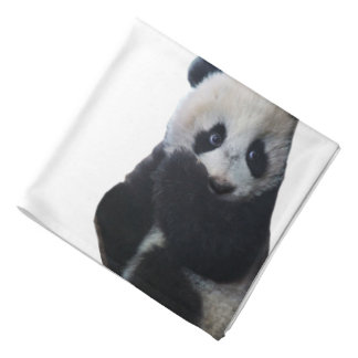 Pañuelo hecho girar panda del poliéster bandanas