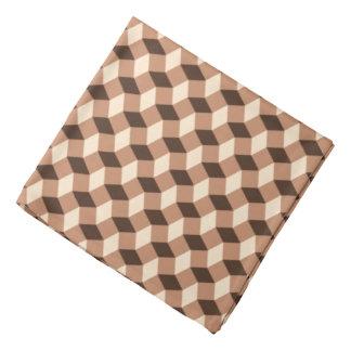 Pañuelo marrón del modelo ondulado bandanas