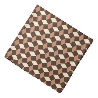Pañuelo marrón oscuro del modelo ondulado bandanas