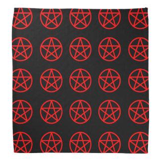 Pañuelo multi rojo y negro del pentáculo bandanas