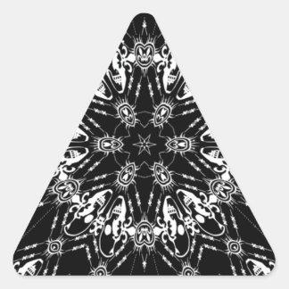 pañuelo negro como diseño con los cráneos pegatina triangular
