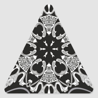Pañuelo negro como diseño pegatina triangular