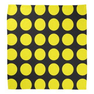 Pañuelo negro de los lunares amarillos bandanas