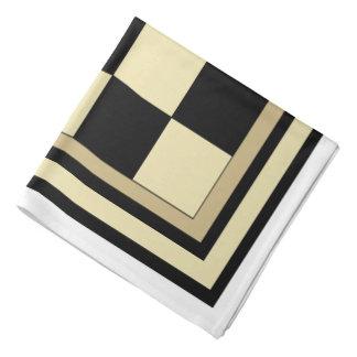 Pañuelo negro y amarillo colorido del tablero de bandanas