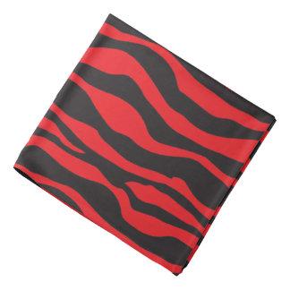 Pañuelo negro y diseño rayado cebra roja bandana