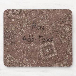 Pañuelo occidental Mousepad de Brown del estilo