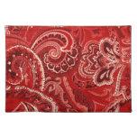 Pañuelo/pañuelo retros rojos de Paisley Mantel