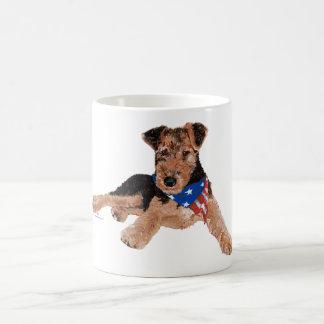 Pañuelo para el cuello patriótico del perrito tazas