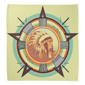 Pañuelo principal indio del modelo de prueba bandana