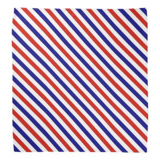 Pañuelo rayado blanco y azul rojo bandana
