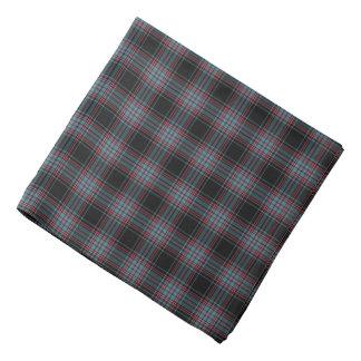 Pañuelo retro negro y azul de la tela escocesa del bandanas