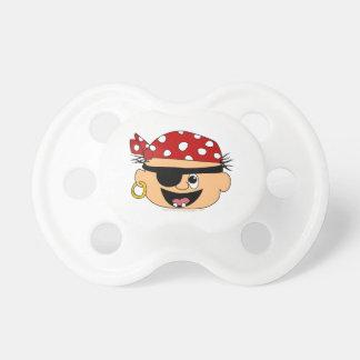 Pañuelo rojo Binkie del bebé lindo del pirata para Chupetes De Bebe