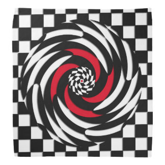 Pañuelo rojo, blanco y negro del vórtice del bandana