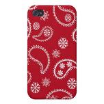 Pañuelo rojo iPhone 4 cárcasas