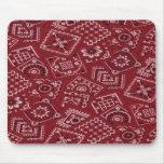 Pañuelo rojo Mousepad del granero occidental del e Alfombrilla De Raton