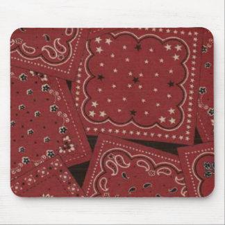 Pañuelo rojo Mousepad del vaquero
