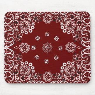 Pañuelo rojo occidental Mousepad Tapetes De Ratón