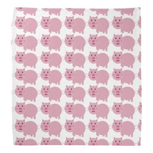 Pañuelo tímido del cerdo bandanas