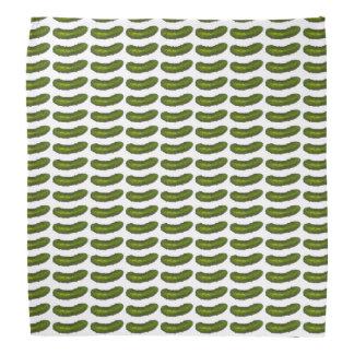 Pañuelo verde crujiente de la salmuera de las bandanas