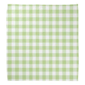 Pañuelo verde y blanco de la primavera de la bandana