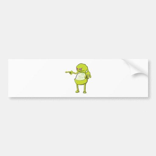 panza de tommy dentro del verde aterronado del mon etiqueta de parachoque
