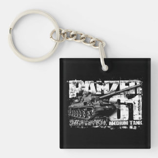 Panzer 61 Double-Sided Square Acrylic Keychain