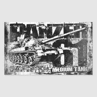 Panzer 61 Rectangle Stickers