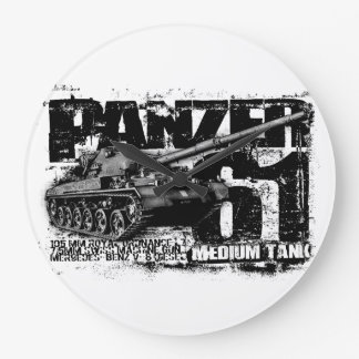 Panzer 61 Round (Large) Wall Clock