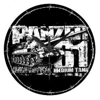 Panzer 61 Wall Clocks