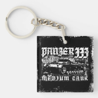 Panzer III Square (double-sided) Keychain